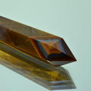 двухсторонний кристалл 6 граней, тигровый глаз #396