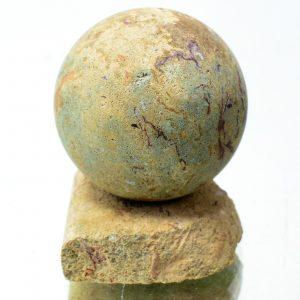 Бирюза и гояцит в глинистой породе